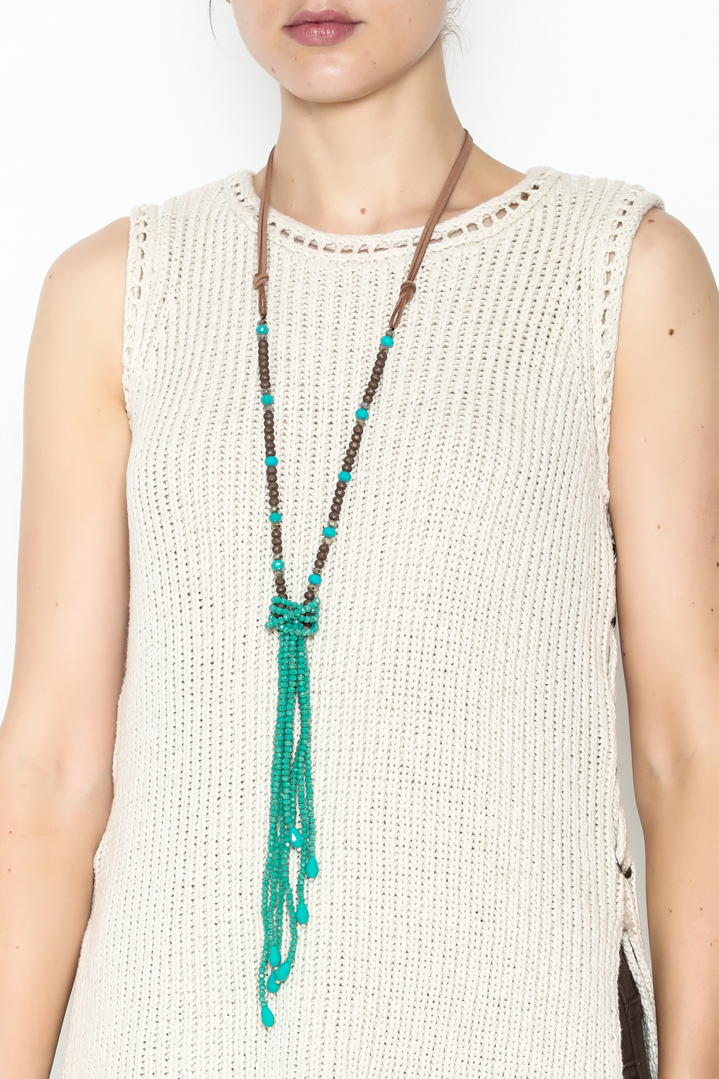 Southern Living Beaded Tassel Necklace - Main Image