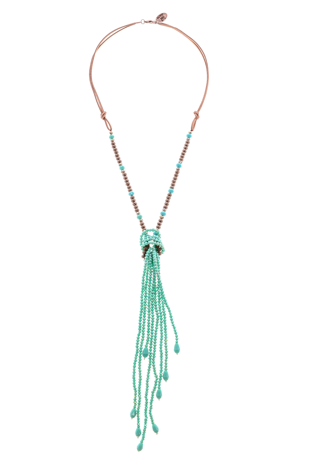 Southern Living Beaded Tassel Necklace - Front Cropped Image