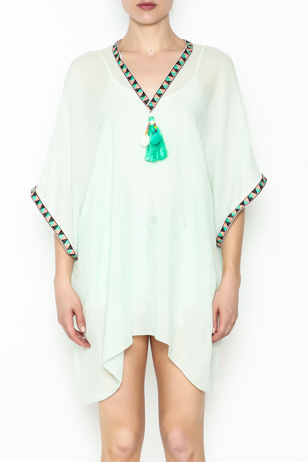 Grace & Emma Boho Cover-Up Top - Front Full Image