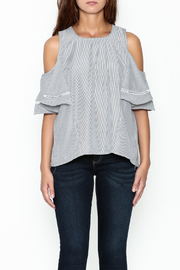 Grace & Emma Grey Cold Shoulder Top - Front full body