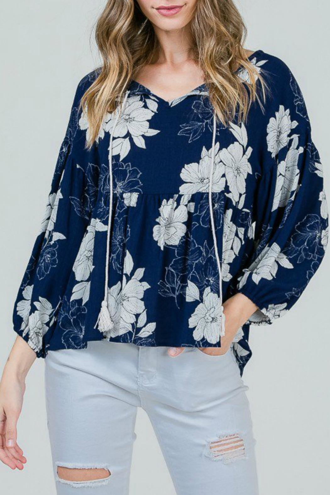 Red Lolly Grace Floral Blouse - Main Image