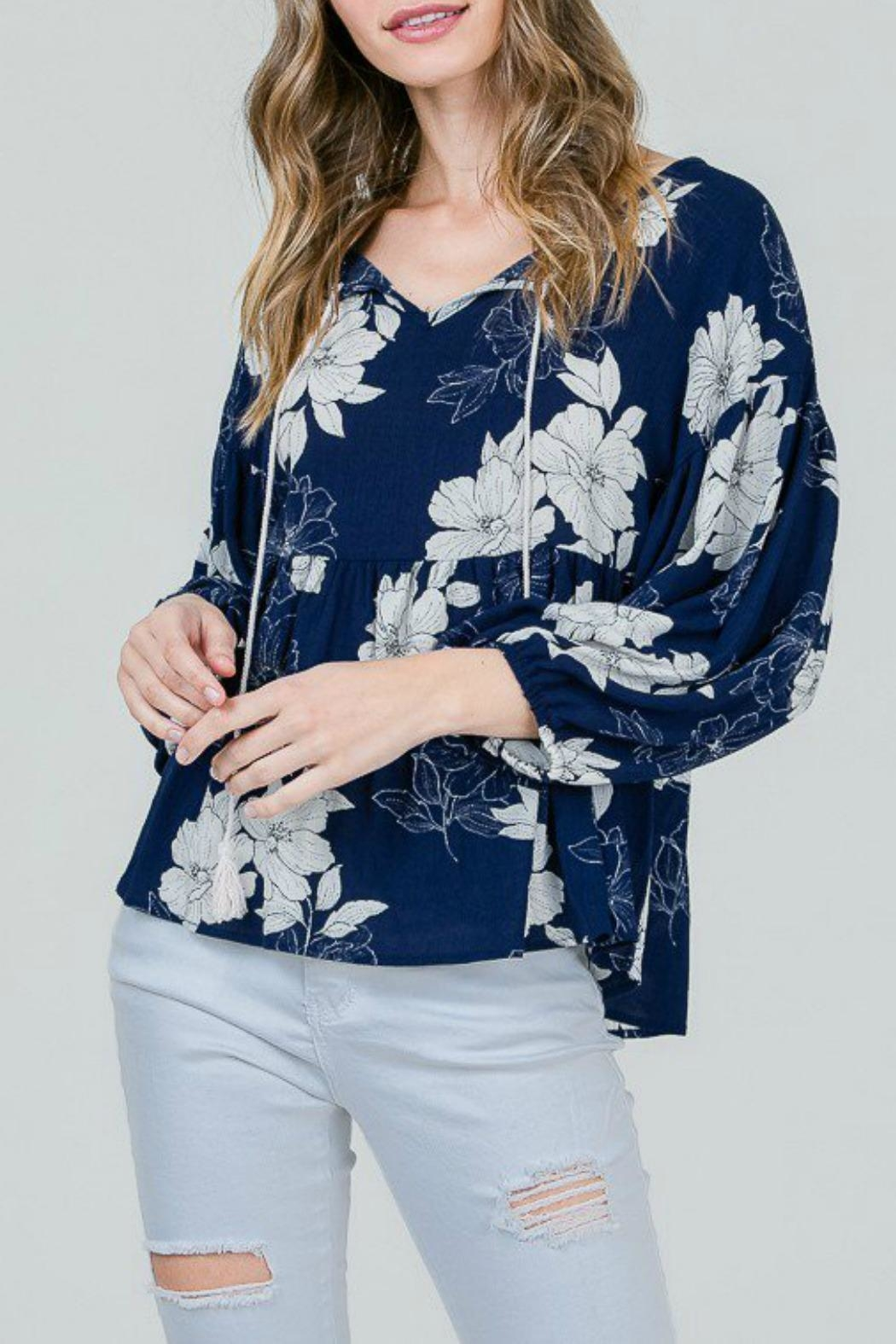 Red Lolly Grace Floral Blouse - Front Full Image
