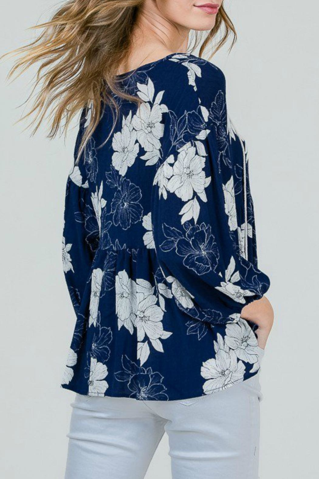 Red Lolly Grace Floral Blouse - Side Cropped Image