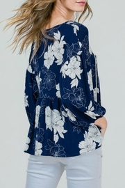 Red Lolly Grace Floral Blouse - Side cropped