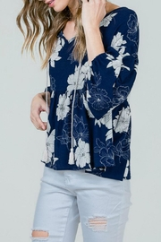 Red Lolly Grace Floral Blouse - Back cropped