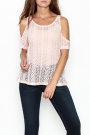 Grace & Emma Pink Cold Shoulder Top - Product Mini Image