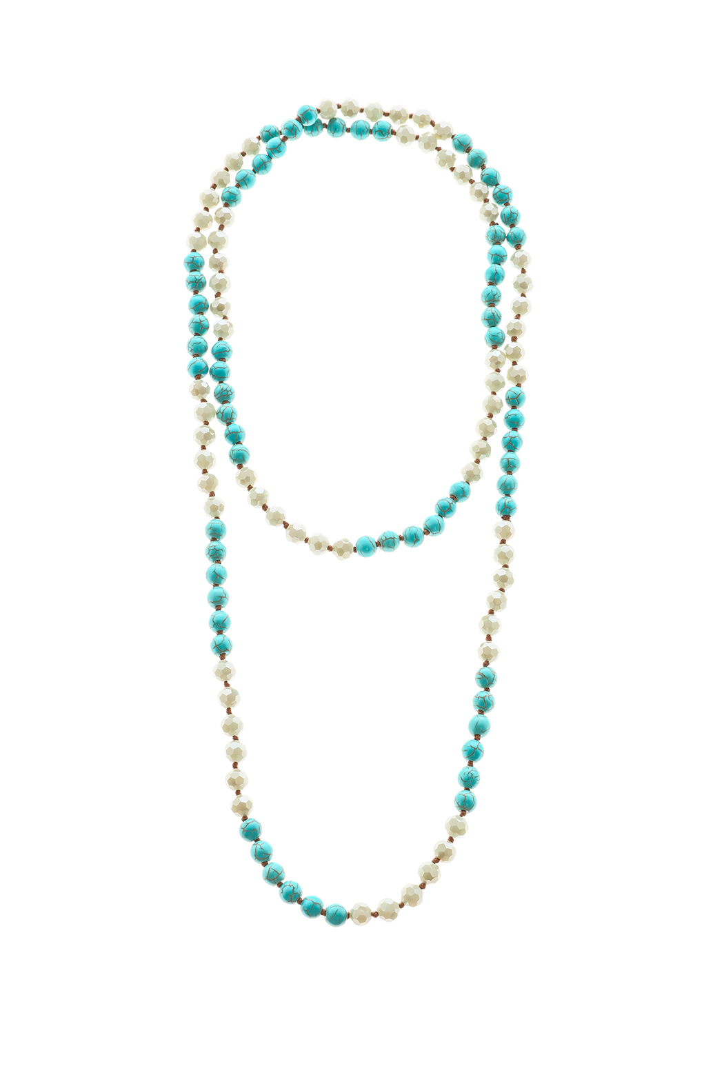 Southern Living Long Beaded Necklace - Front Cropped Image