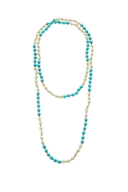 Southern Living Long Beaded Necklace - Front cropped