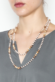 Grace & Emma Long Beaded Necklace - Front full body