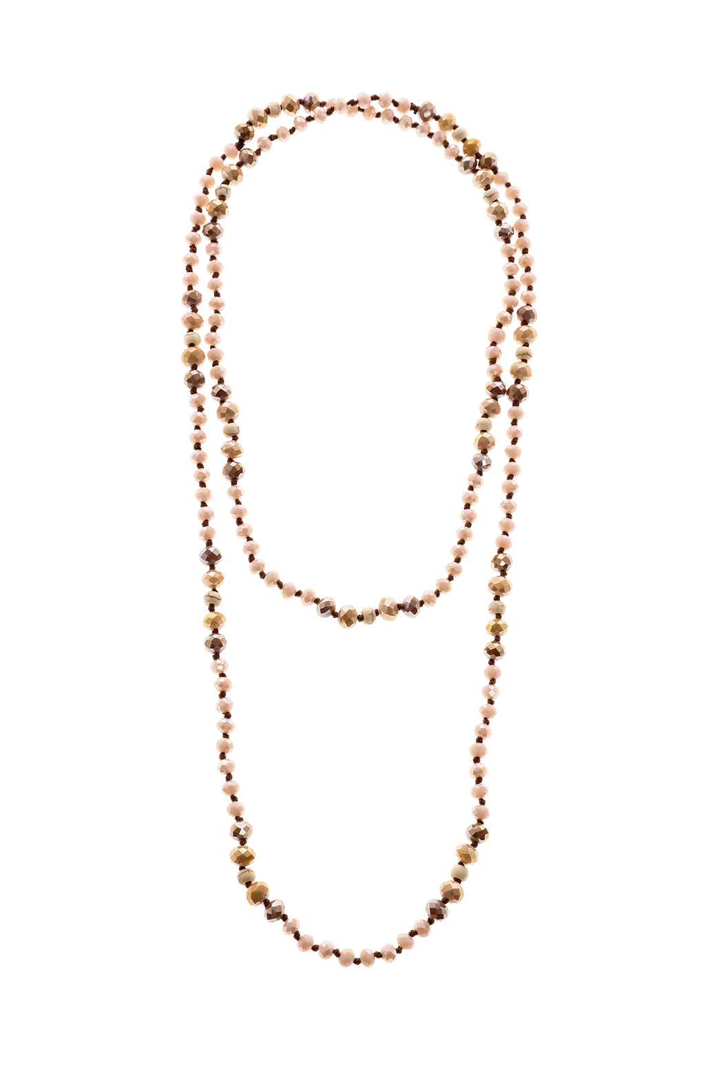 Grace & Emma Long Beaded Necklace - Front Cropped Image
