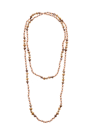 Grace & Emma Long Beaded Necklace - Front cropped