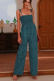 Esley Collection Grace Polka Dot Jumpsuit - Product Mini Image