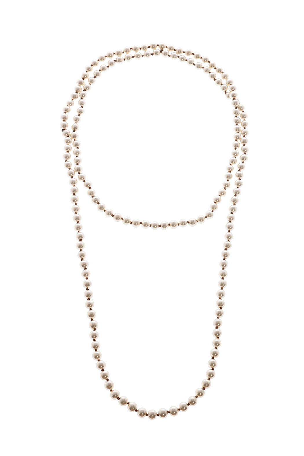 Southern Living Long Pearl Necklace - Front Cropped Image