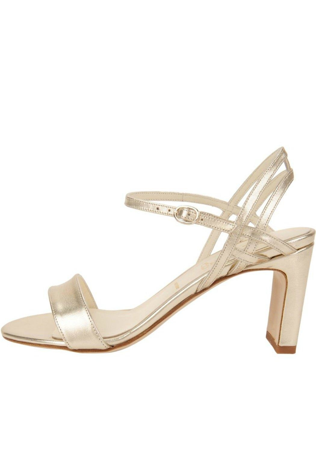 Something Bleu Grace Strappy Heeled-Sandal - Front Cropped Image