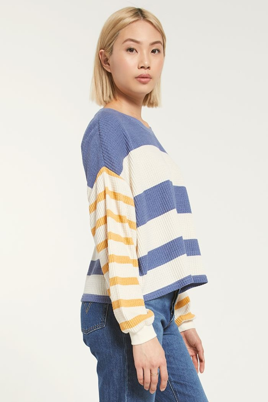 z supply Grace Striped Long Sleeve - Front Full Image