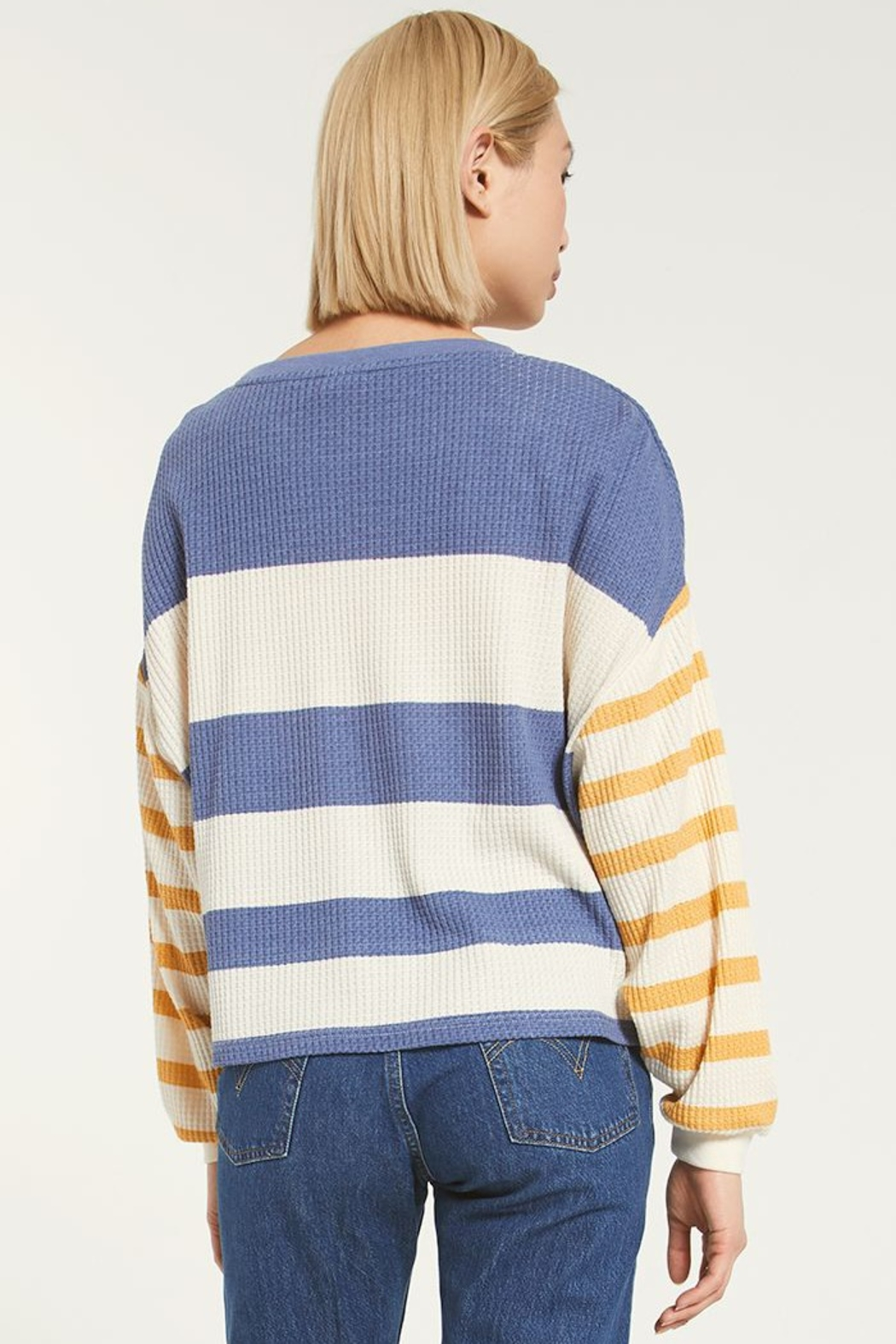 z supply Grace Striped Long Sleeve - Side Cropped Image
