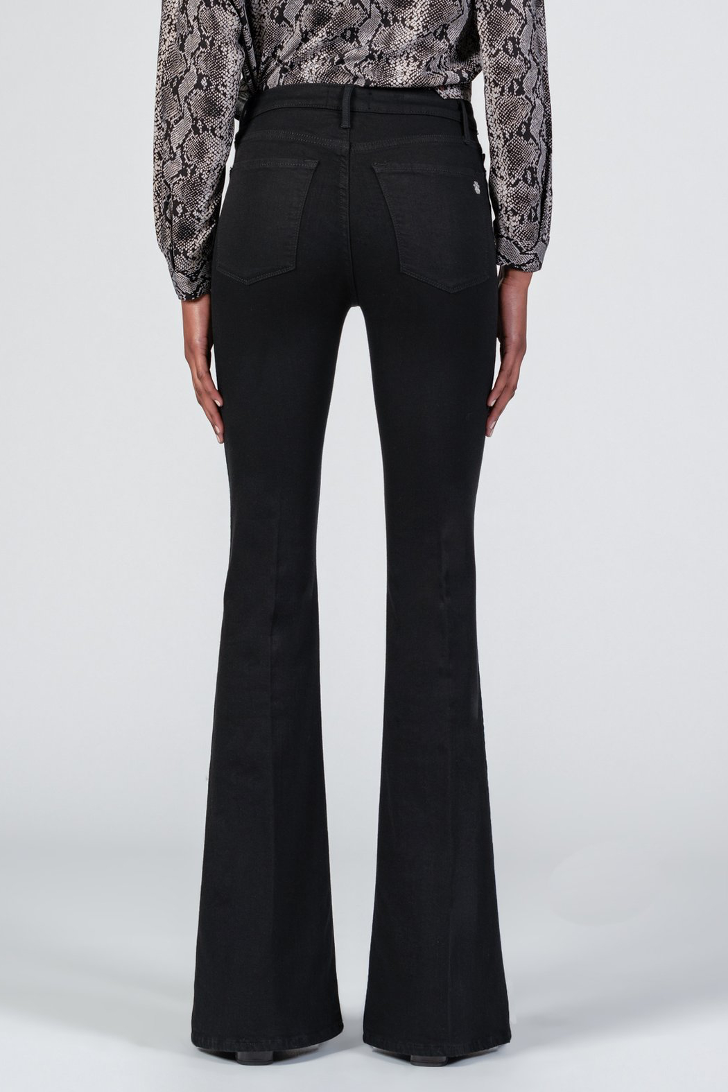 Black Orchid Denim Grace Super Flare Denim - Side Cropped Image