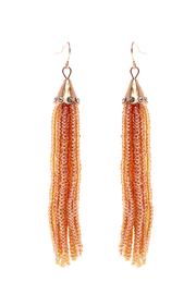 Grace & Emma Trinity's Tassel Earrings - Front cropped
