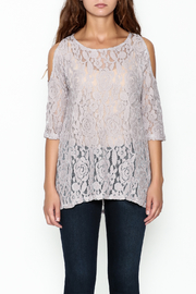 Grace & Emma Lace Cold Shoulder Top - Front full body