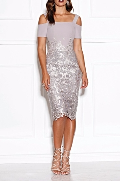 Grace & Hart Silver Lace Dress - Product List Image