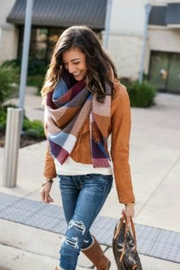 Grace & Lace Blanket-Scarf/toggle Poncho - Product Mini Image