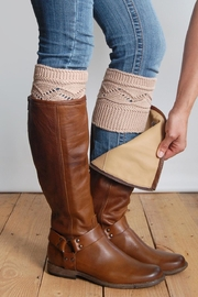 Grace & Lace Cableknit Boot Cuffs - Front cropped