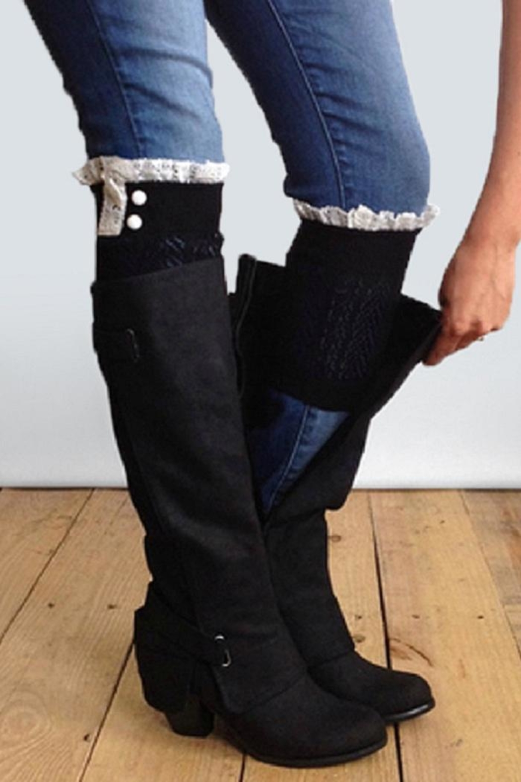 Grace & Lace Dainty Boot Cuffs - Main Image