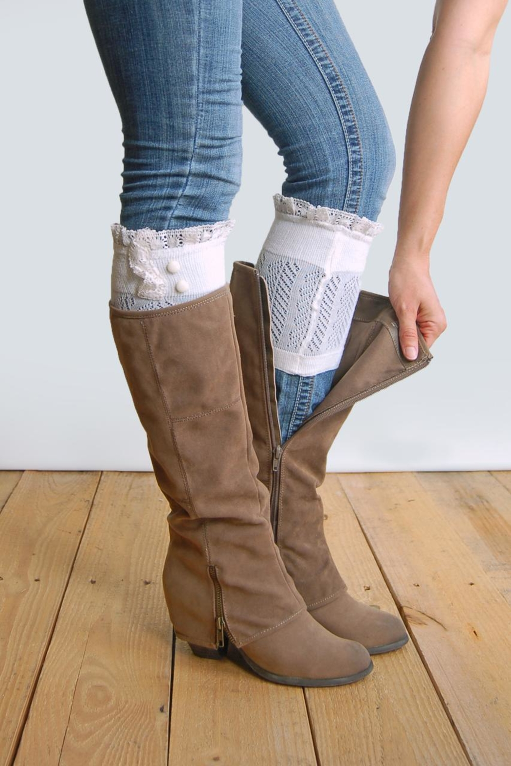 Grace & Lace Dainty Boot Cuffs - Front Cropped Image