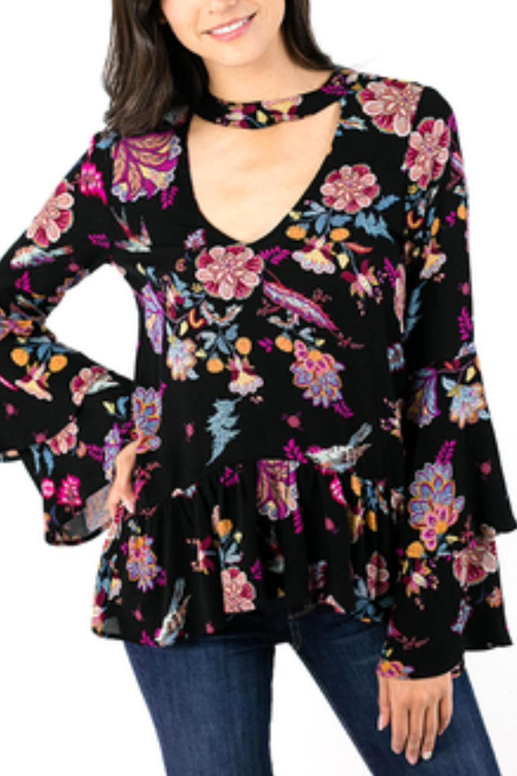 Grace & Lace Floral Bell-Sleeve Top - Main Image