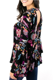 Grace & Lace Floral Bell-Sleeve Top - Front full body