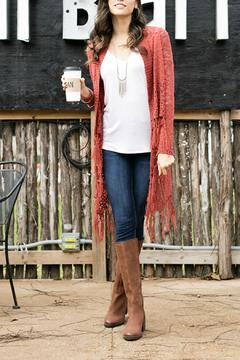 Grace & Lace Fringe Knit Cardigan - Alternate List Image