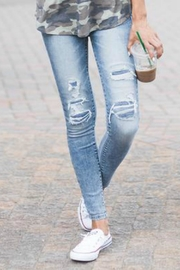 Grace & Lace Patched Distressed Jegging - Product Mini Image