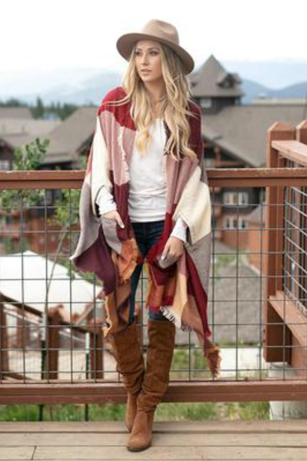 Grace & Lace Poncho-Blanket Scarf W/pockets - Main Image
