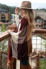 Grace & Lace Poncho-Blanket Scarf W/pockets - Front full body
