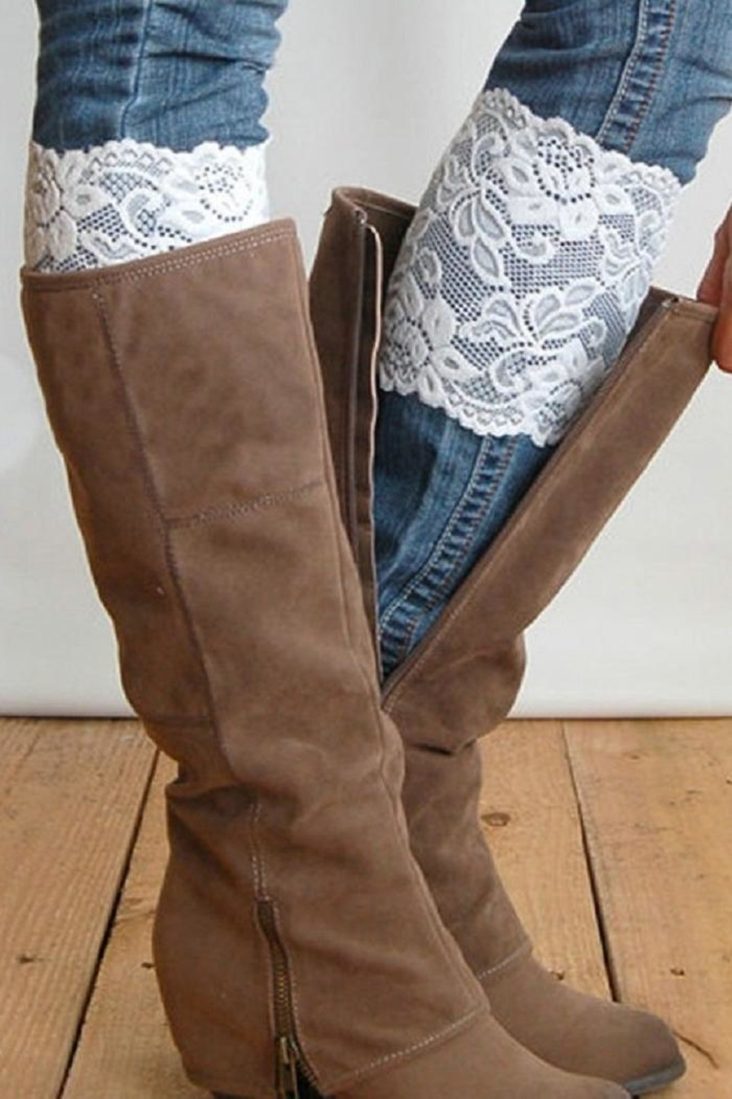 Grace & Lace Stretchlace Boot Cuffs - Main Image