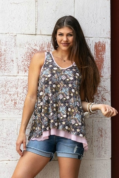 Shoptiques Product: Tiered Floral Tank