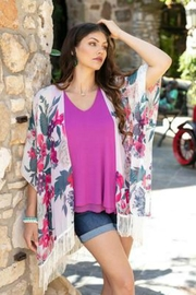 Grace & Lace Tropical Print Kimono - Product Mini Image