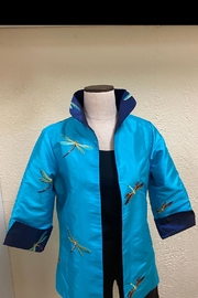 Grace Chuang Reversible Embroidered-Dragonfly Coat - Product Mini Image