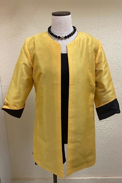 Grace Chuang Reversible Yellow & Black Coat - Alternate List Image