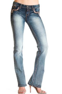 Grace in L.A. Boho Detail-Pocket Bootcut - Product List Image