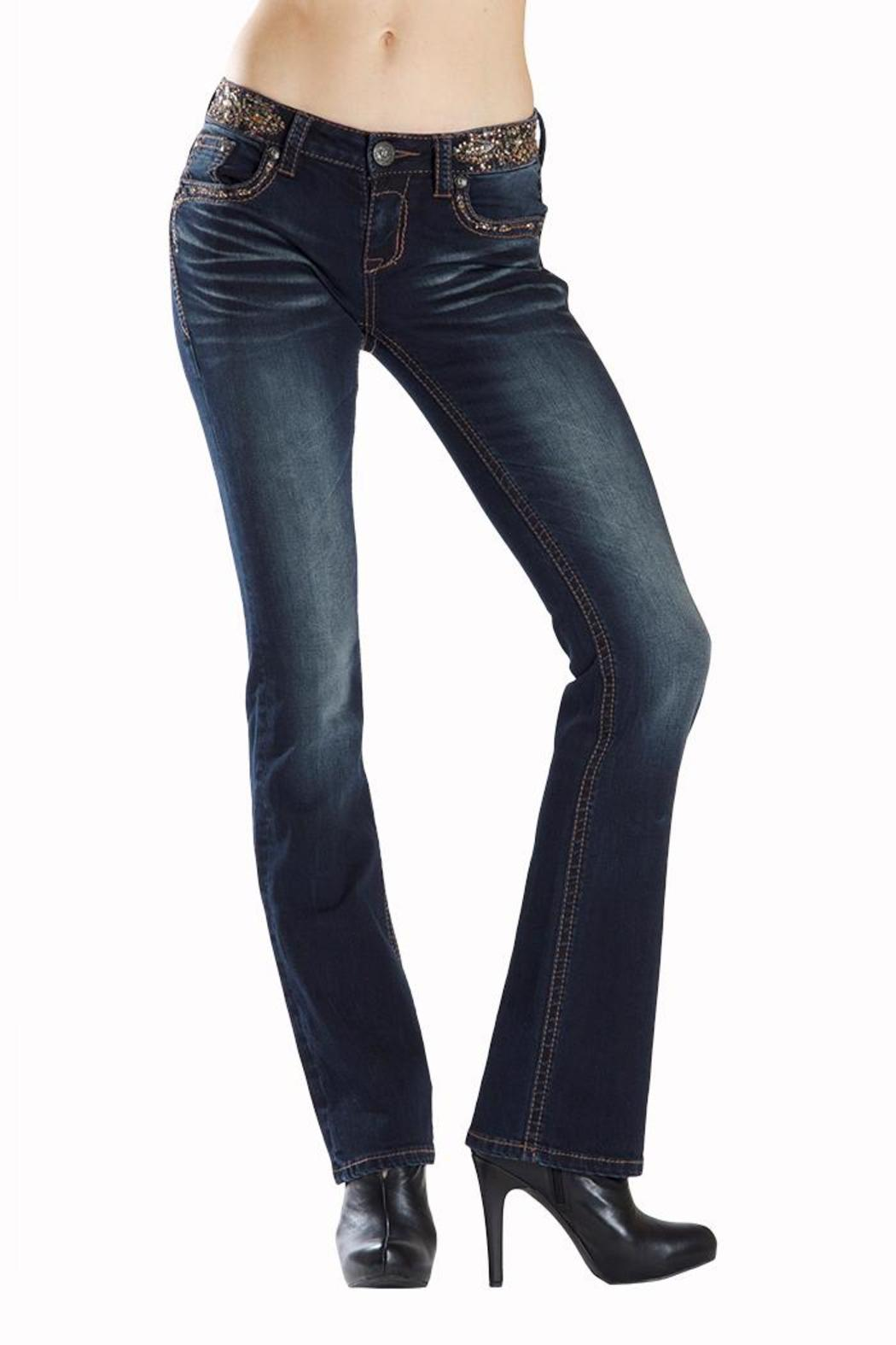 Grace in L.A. Dark Embellished Bootcut - Main Image