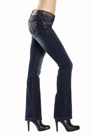Grace in L.A. Dark Embellished Bootcut - Back cropped