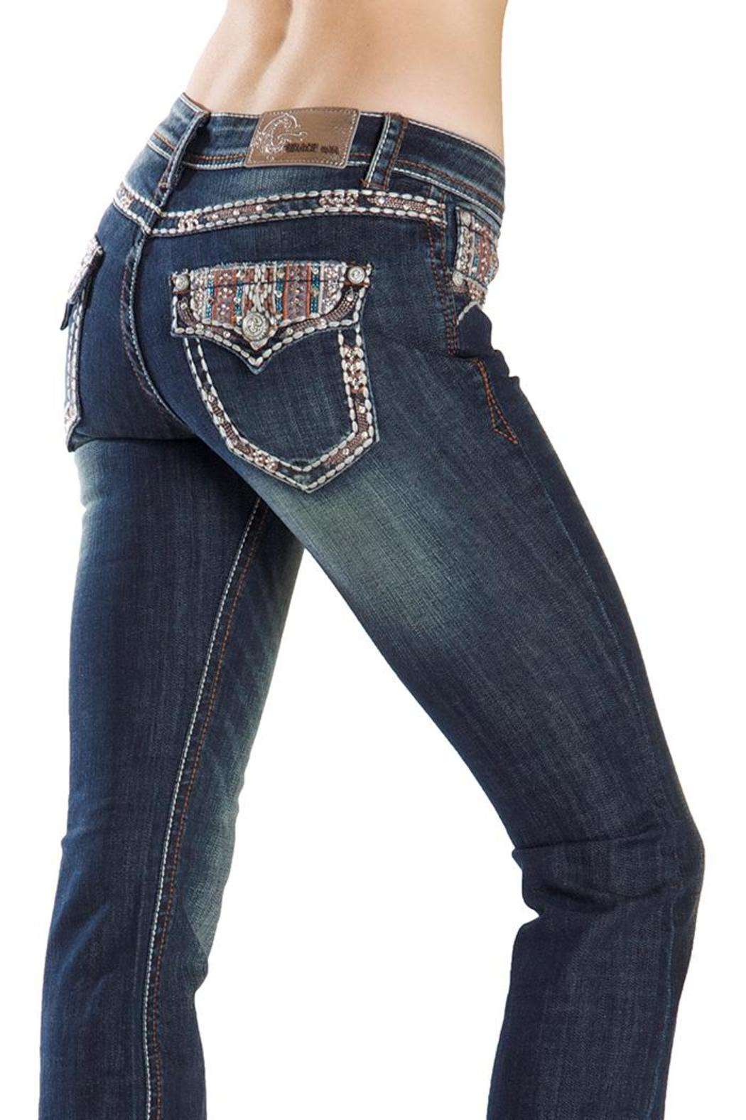 Grace in L.A. Electric Glitz Bootcut - Front Cropped Image
