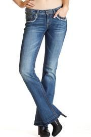 Grace in L.A. Fray Flap-Pocket Bootcut - Side cropped