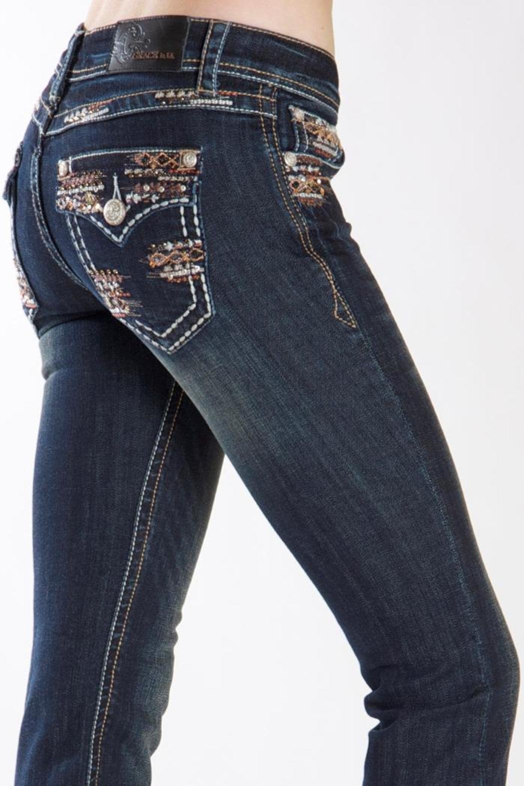 Grace in L.A. Natural Glitz Bootcut - Front Cropped Image
