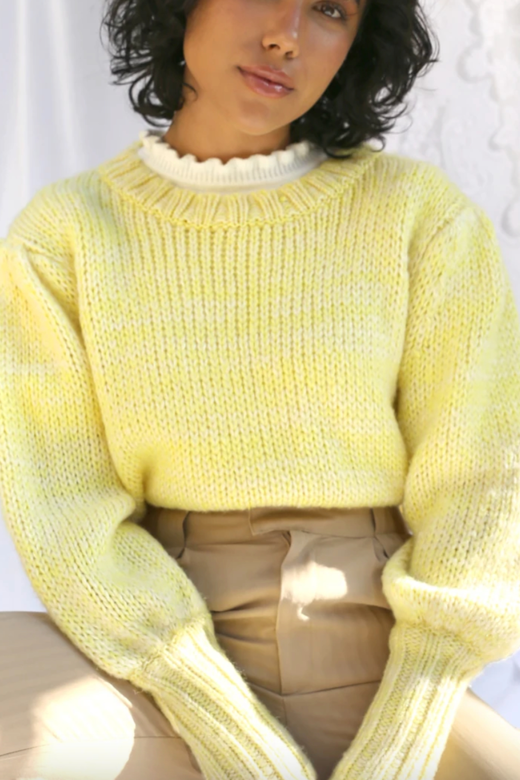 Greylin  Gracey Pouf Sleeve Sweater - Side Cropped Image