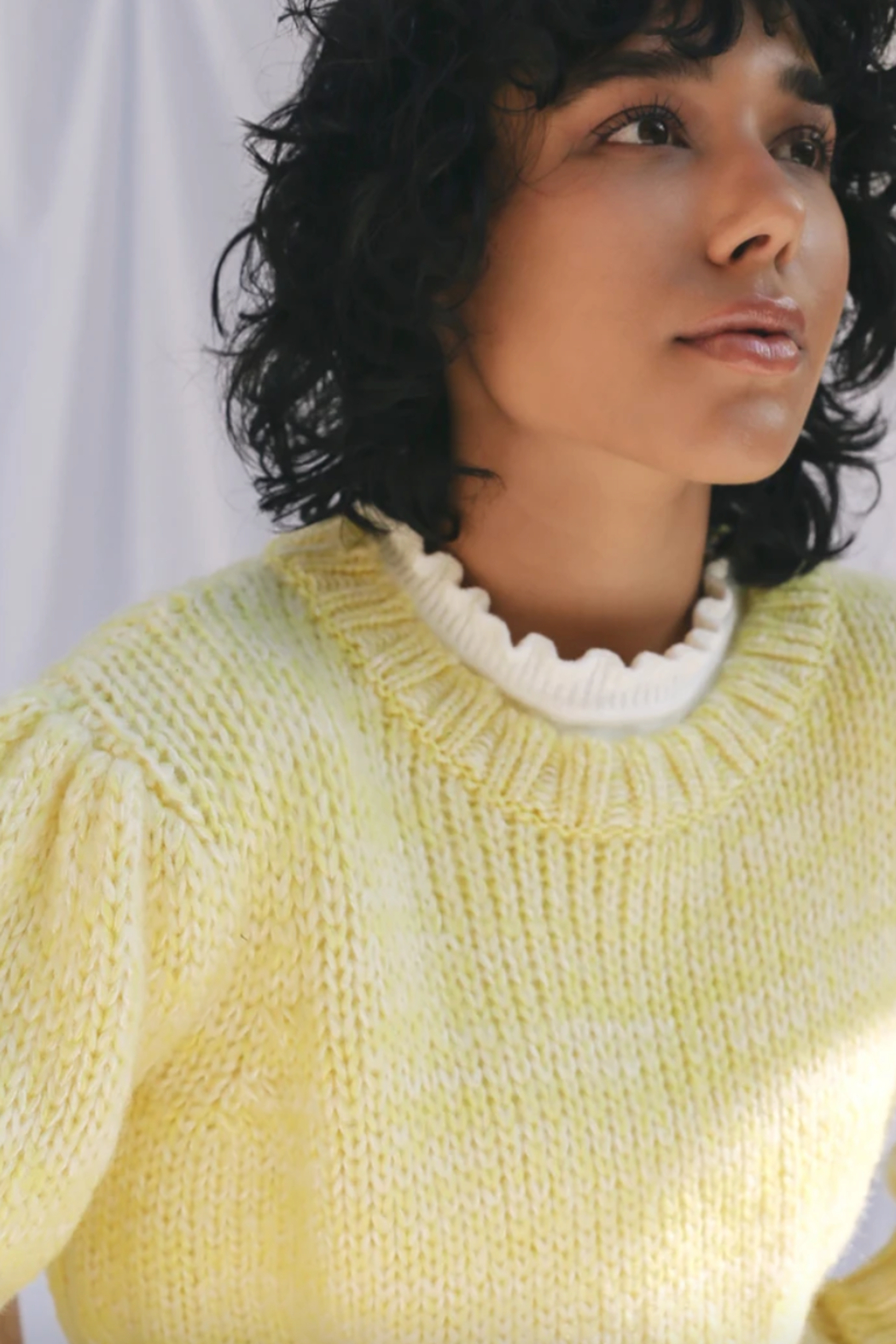 Greylin  Gracey Pouf Sleeve Sweater - Front Full Image