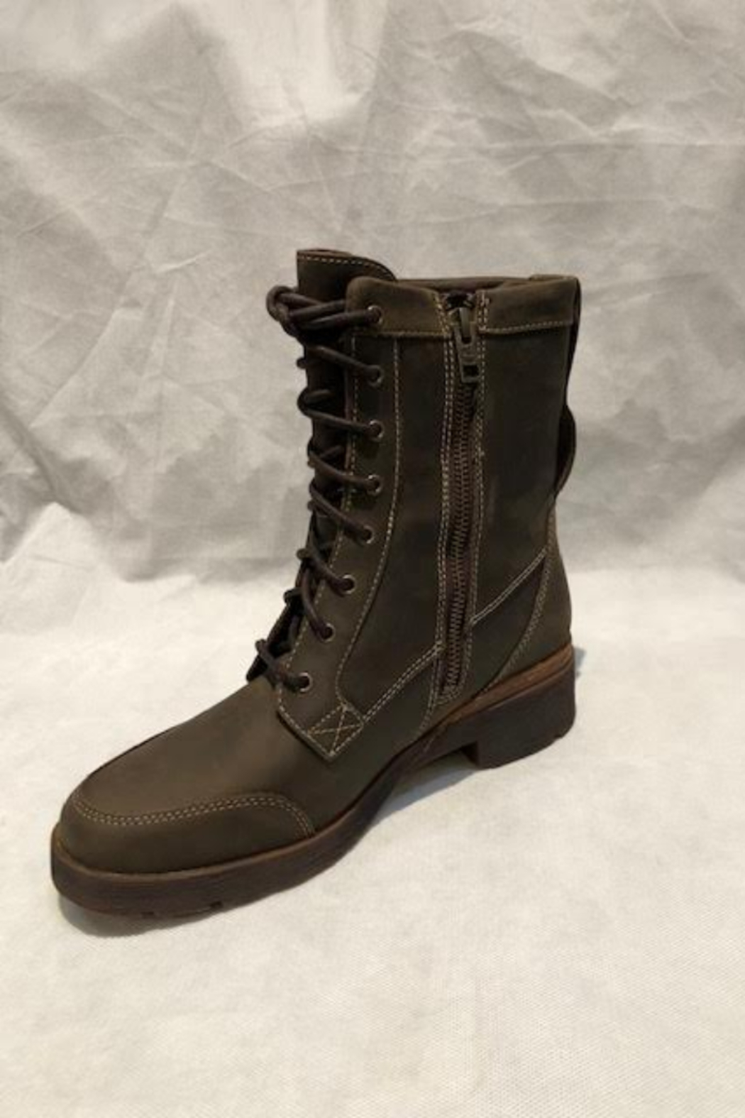 Timberland Graceyn Waterproof Mid Lace Up Boot - Back Cropped Image