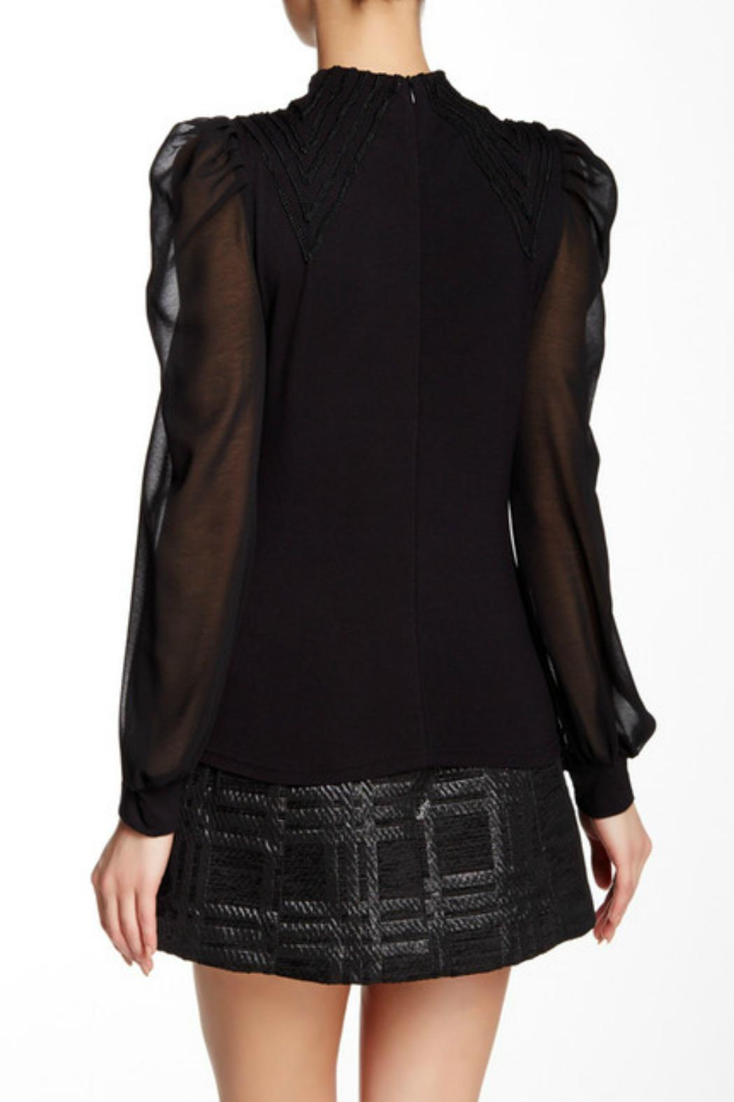 Gracia Bishop Sleeve Blouse - Side Cropped Image