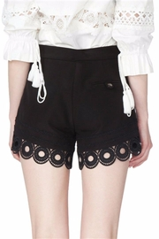 Gracia Black Eyelet Shorts - Side cropped